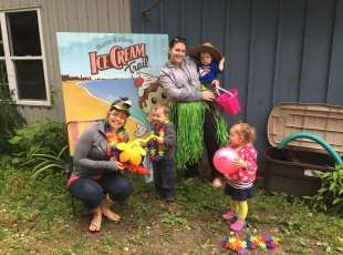 Dress-up fun at the Ice Cream Trail photo booth!