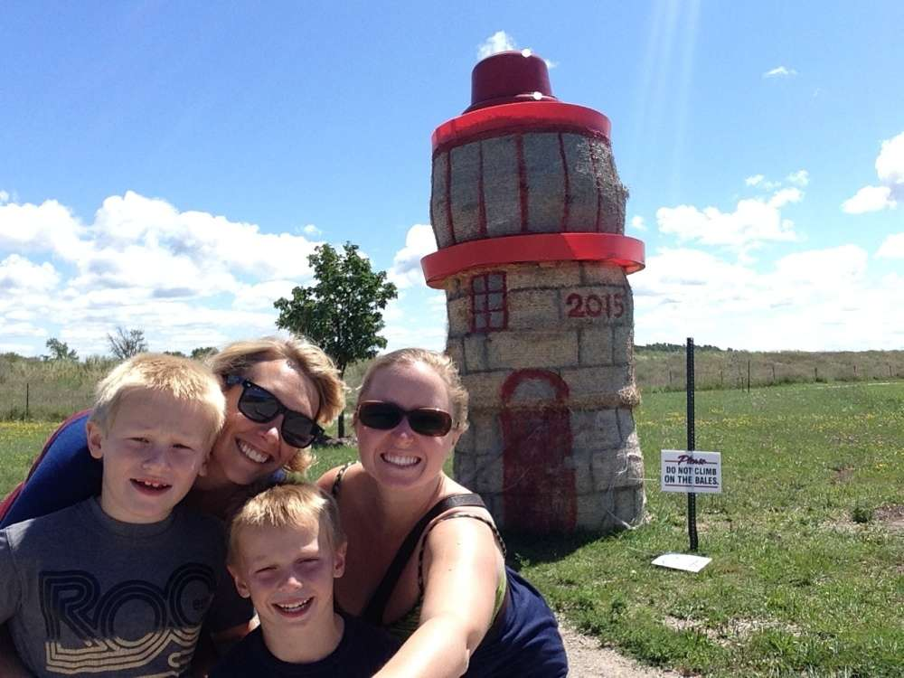 Straw Bale Lighthouse selfie!